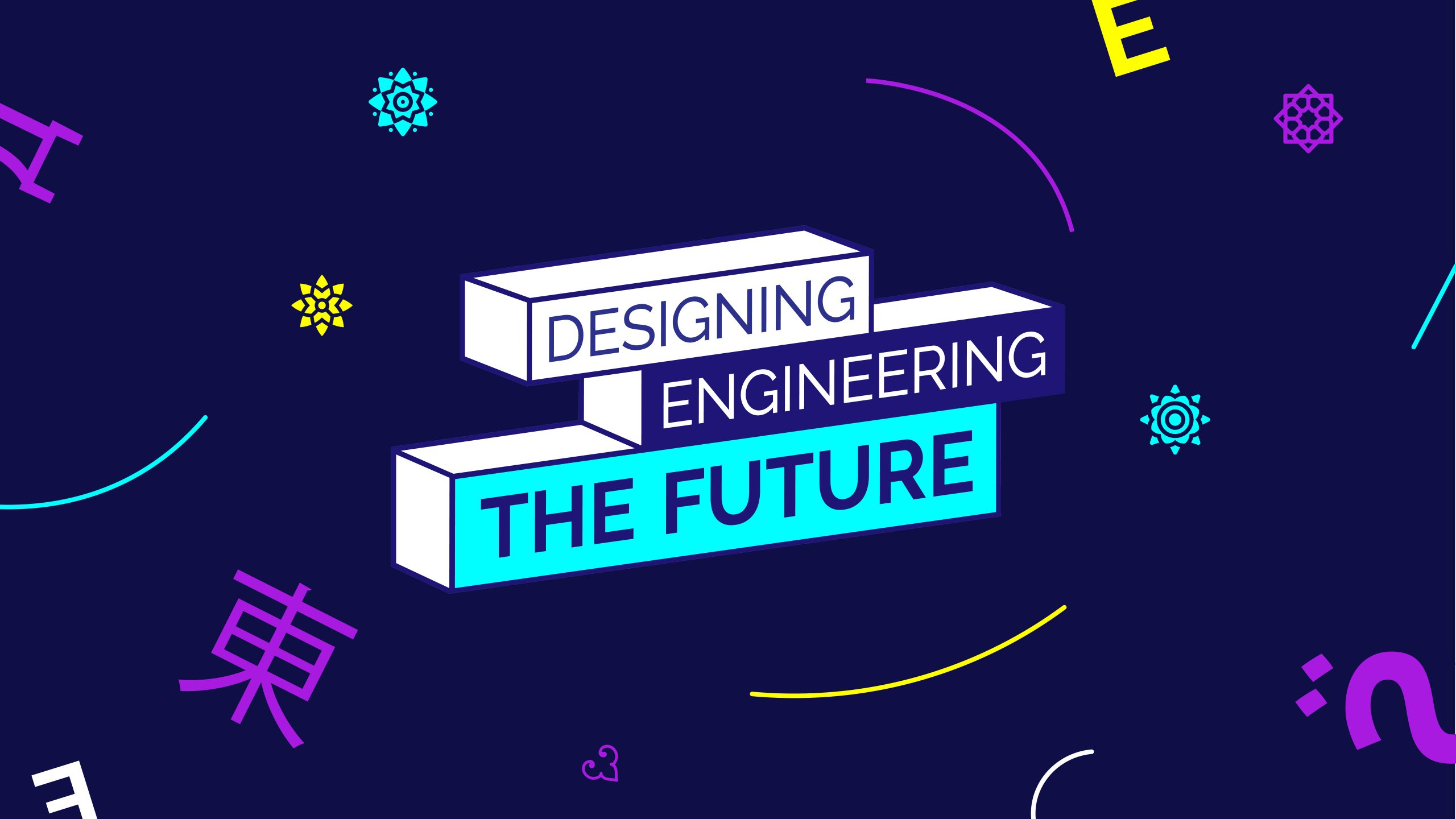 Cover of Tech Meets Design's flagship conference Designing Engineering the Future